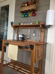Inexpensive Potting Bench by My Porch Bar Potting Bench From World Market Applied Teak Oil