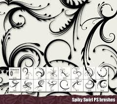 50 free swirl floral brushes for photoshop monsterpost