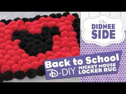 back to disney diys mickey locker rug youtube