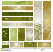 vector sles of web design banners with tree stock vector