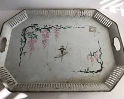 painted serving platters painted platter etsy