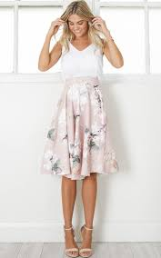 midi skirt whirlwind midi skirt in blush floral showpo