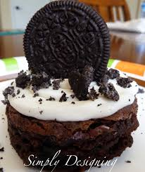 frosted oreo brownies