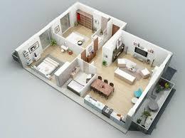 unbelievable design 15 3d two bedroom house plans 2 designs 3d