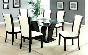 Glass Top Dining Tables Glass Top Dining Table For 8 Impressive