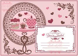 tea party invitation blank downloadable