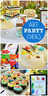 best 25 art themed party ideas on pinterest paint birthday