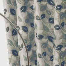 Teal Curtains Eyelet Lined Curtains Luxury Chenille Readymade Ringtop
