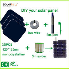 solarparts diy solar panels kits with 125 125mm monocrystalline