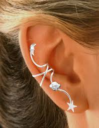 cuff earings clingon galaxy ear spray ear cuff earring rhodium
