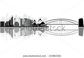 australia harbour bridge silhouette download free vector art