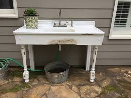 Connecting Garden Hose To Kitchen Faucet Diy Project Plan Build An Outdoor Sink Part One Via Deanna