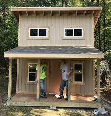 lakeside camp playhouse plan 280ft wood plan for kids u2013 paul u0027s