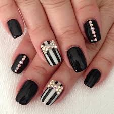 Black Manicure Designs 50 Best Black And White Nail Designs Stayglam