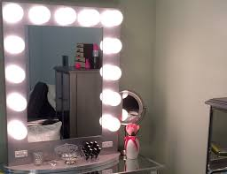 Bedroom Makeup Vanity With Lights Bedroom Nice White Makeup Vanity Table With Lighted Mirror For