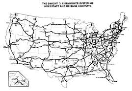 map us interstate system the yearof the interstate the year of the interstate january