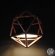 copper pipe light fixture diy copper pipe icosahedron light fixture