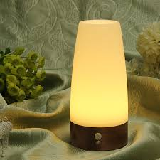 battery operated motion activated light wireless motion sensor cylinder led night light battery powered l