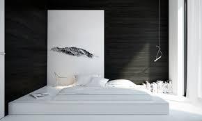 bedroom splendid cool black and white minimalist bedroom