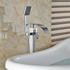 Floor Mounted Faucet Aliexpress Com Buy Free Standing Bathtub Floor Mounted Faucet