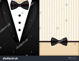 bow tie tuxedo invitation design template stock illustration