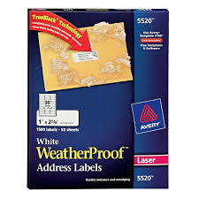 Mailing Label Templates 30 Per Sheet Amazon Com Avery Weatherproof Mailing Labels With Trueblock