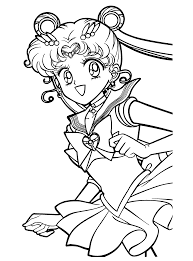 bold design ideas sailor moon coloring pages free printable sailor