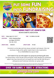 gift card fundraiser fundraising party at s pizza company nevada