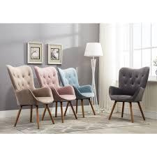 Velvet Accent Chair Doarnin Button Tufted High Back Velvet Accent Chair Ebay With