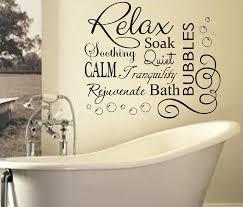 Quotes On Home Decor Relax Soak Bubbles Bath Ar Quote Wall Art Sticker Decal Vinyl Diy