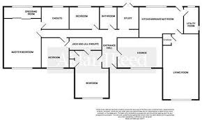 Four Bedroom Bungalow Floor Plan 4 Bedroom Bungalow For Sale In Hall Drive Burton On The Wolds
