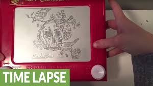 time lapse captures incredible etch a sketch artwork process youtube