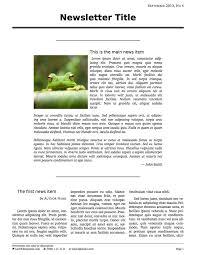 short three column newsletter latex template latex templates