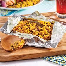 cuisine riz riz au cari sur le barbecue recettes cuisine et nutrition