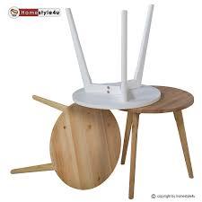 Wohnzimmertisch Zu Verkaufen Beistelltisch Tisch Couchtisch Rund Holz 45cm ø Nachttisch
