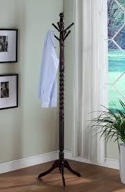 amazon com dark mahogany solid wood coat rack office products