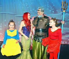 ariel and flounder halloween costumes making a big production of u0027the little mermaid u0027 postindependent com