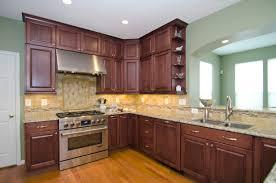 modern design interior cherry cabinets kitchen with featuring dark