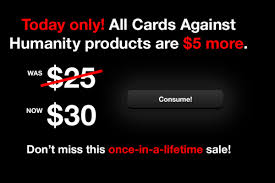 cards against humanity for sale cards against humanity holds black friday sale by charging