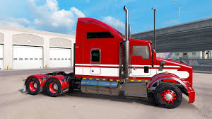 kenworth truck tractor red white tractor kenworth t800 for american truck simulator
