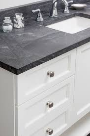 Best  Gray Granite Countertops Ideas On Pinterest Gray - Black granite with white cabinets in bathroom