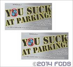 offensive business cards you at parking offensive business cards 10 pack printed on