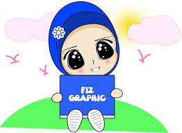 freebies doodle muslimah fizgraphic dot design