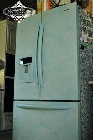 painting a fridge painted fridge by vintage c painting appliances stainless steel painting a fridge