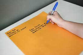 write on paper how to address large envelopes our everyday life portrait orientation