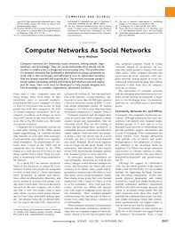 computer networks as social networks collaborative work telework