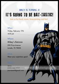 batman invitation templates cloudinvitation com