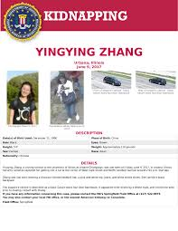 missing chinese student in us likely kidnapped by white man who