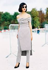 the pants under the dress trend is coming back backstyle
