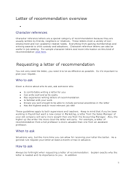 brilliant ideas of character reference request letter with format